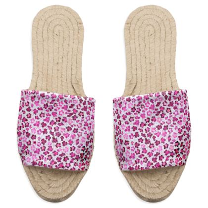 Leopard Skin in Magenta Collection Sandal Espadrilles