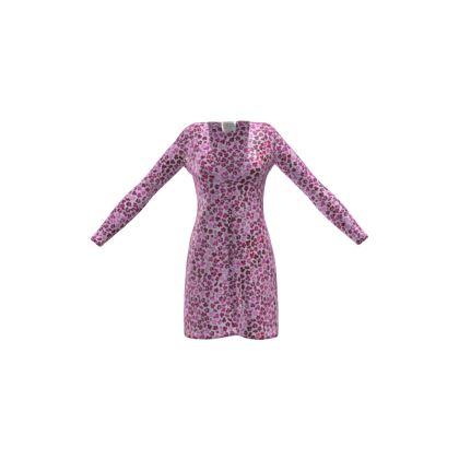 Leopard Skin in Magenta Collection Ladies Cardigan