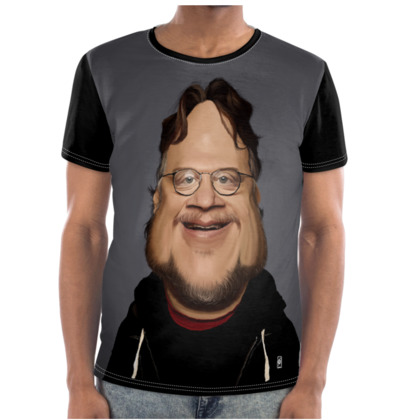 Guillermo Del Toro Celebrity Caricature Cut and Sew T Shirt