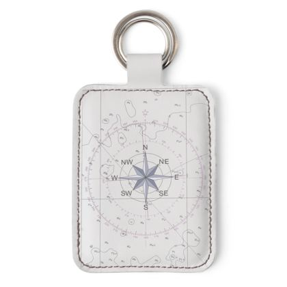 Compass point key ring