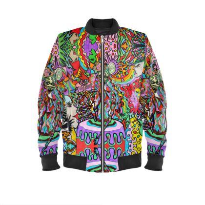 Pop Art Sweet Girl Mens Bomber Jacket by Azima