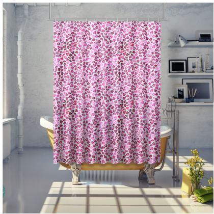 Leopard Skin in Magenta Collection Shower Curtain