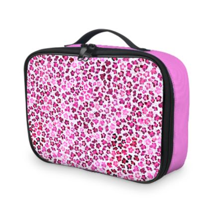 Leopard Skin in Magenta Collection Lunch Bags