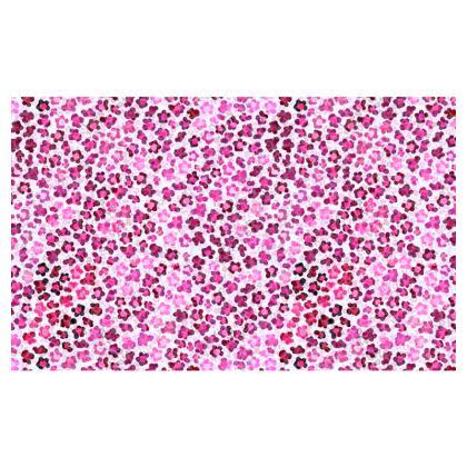 Leopard Skin in Magenta Collection Zip Top Handbag
