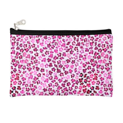 Leopard Skin in Magenta Collection Zip Top Pouch
