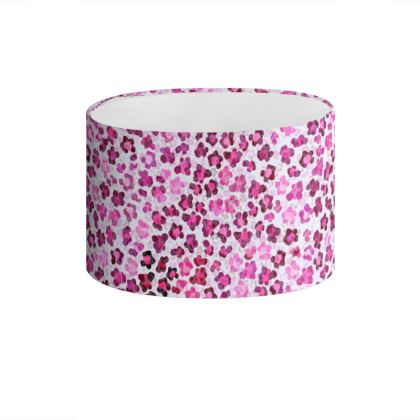 Leopard Skin in Magenta Collection Drum Lamp Shade