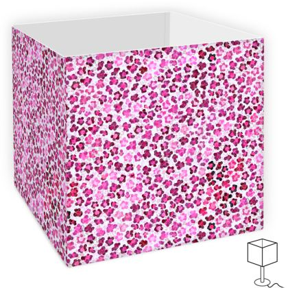 Leopard Skin in Magenta Collection Square Lamp Shade