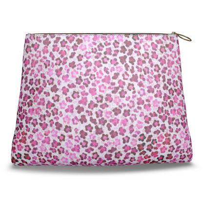 Leopard Skin in Magenta Collection Clutch Bag