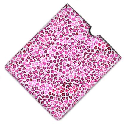 Leopard Skin in Magenta Collection Leather IPad Case