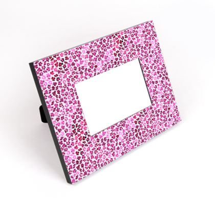 Leopard Skin in Magenta Collection Cut-Out Frame
