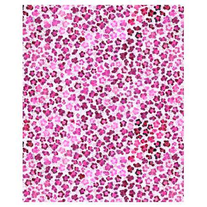 Leopard Skin in Magenta Collection Shoulder Bag