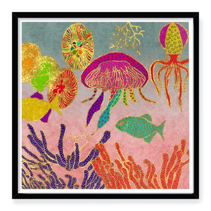 Framed Art Prints Under the sea