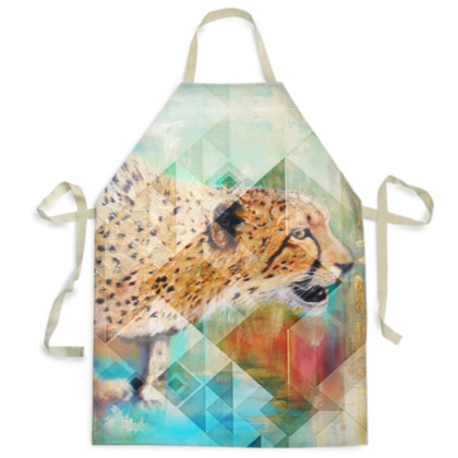 Cheetah Mens Apron