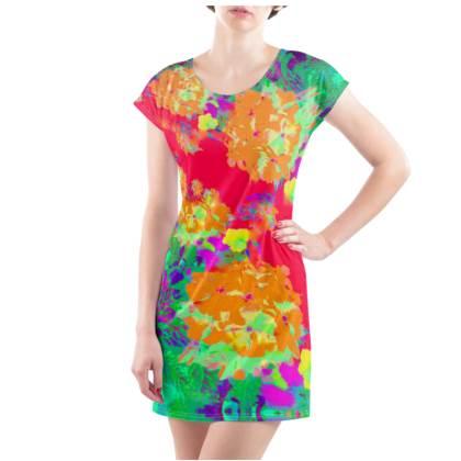 Hydrangea Harmony T-Shirt Dress - UK Size 10/12 (M)