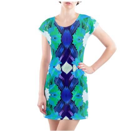 Blue Lagoon T-Shirt Dress - UK Size 10/12 (M)