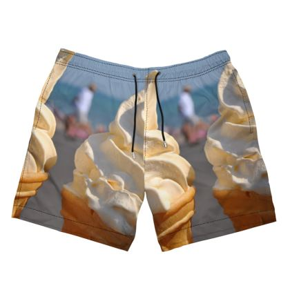 Men's Swimming Shorts - Ice Cream