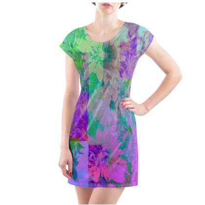 Lilac & Lime T-Shirt Dress - UK Size 14/16 (L)