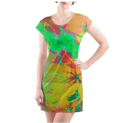 Mango & Lime T-Shirt Dress - UK Size 14/16 (L)
