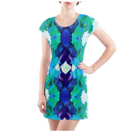 Blue Lagoon T-Shirt Dress - UK Size 14/16 (L)