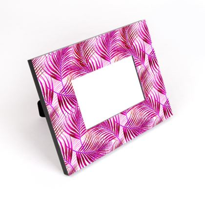 Tropical Garden Collection in Magenta Cut-Out Frame
