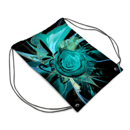 Drawstring PE, gym Bag - Gympapåse - Turquoise black