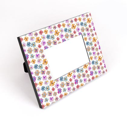 Rainbow Daisies Collection Cut-Out Frame
