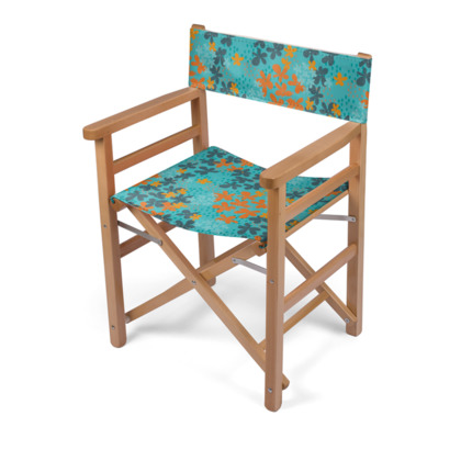 Pop Floral Tangerine director's chair