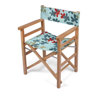 Pop Floral Ruby director's chair