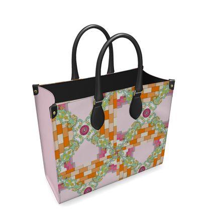 Roads Of Barcelona - Orink - Leather Shopper Bag