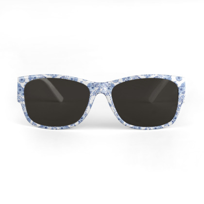 Classic Blue and White Sunglasses