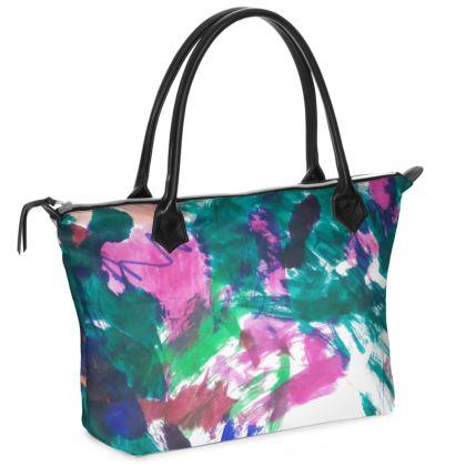 Multicolour Abstract Handbag