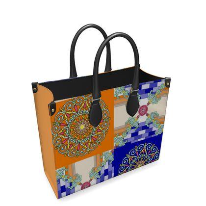 Roads of Barcelona - Blunge - Leather Shopper Bag