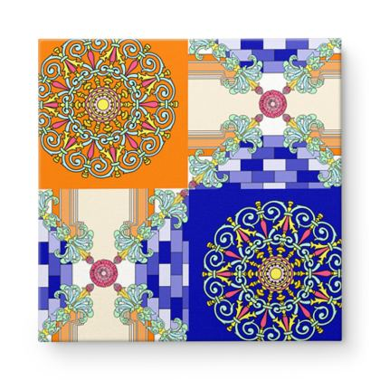 Roads of Barcelona - Blunge - Square Canvas Wholesale