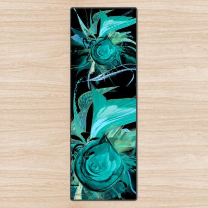 Yoga Mat - Yogamatta - Turquoise black