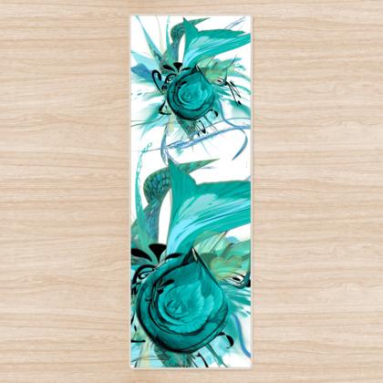 Yoga Mat - Yogamatta - Turquoise white