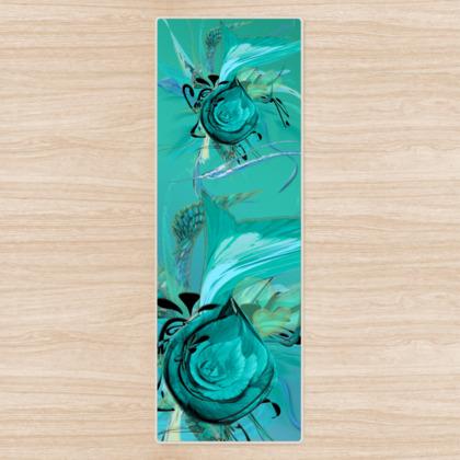 Yoga Mat - Yogamatta - Turquoise on turquoise
