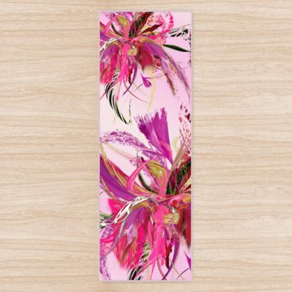 Yoga Mat - Yogamatta - Pink flow pink