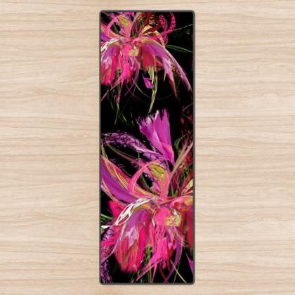 Yoga Mat - Yogamatta - Pink flow black