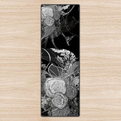 Yoga Mat - Yogamatta - 50 shades of lace grey black
