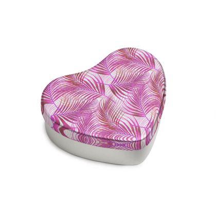 Tropical Garden Collection in Magenta Sweet Heart Tin