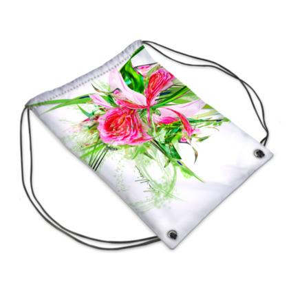 Drawstring PE Bag - Gympapåse  - Pastells white