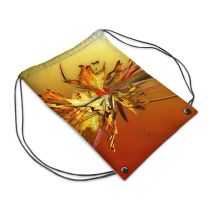 Drawstring PE Bag - Gympapåse  - Fire on fire