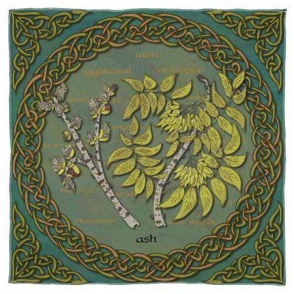 Celtic Ash Scarf, Wrap or Shawl