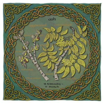 Tree Calendar Ash Scarf, Wrap or Shawl
