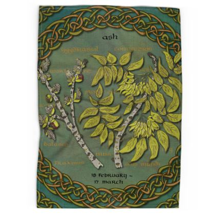 Tree Calendar Ash Tea Towel