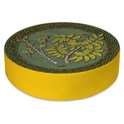 Celtic Ash Round Floor Cushion