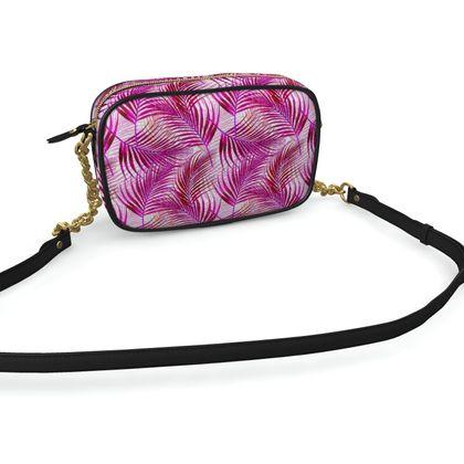 Tropical Garden Collection in Magenta Camera Bag