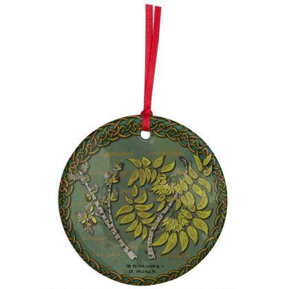 Celtic Tree Calendar Ash Hanging Ornament