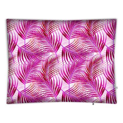 Tropical Garden Collection in Magenta Floor Cushions