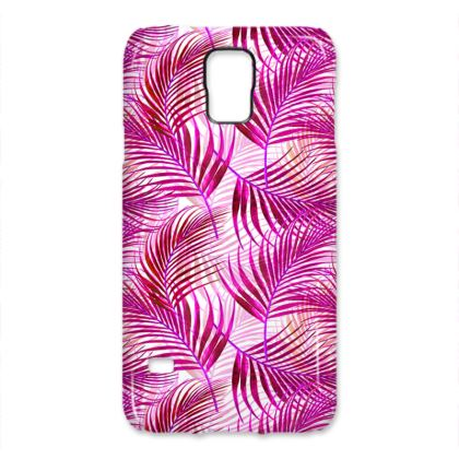Tropical Garden Collection in Magenta Samsung Cases